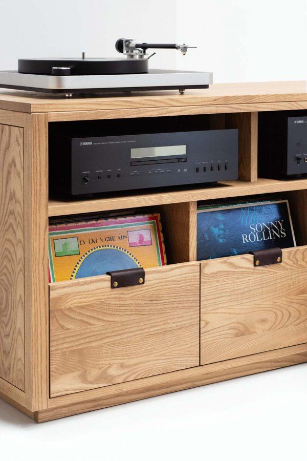 Dovetail Vinyl Storage Cabinet Audio Equipment Shelf