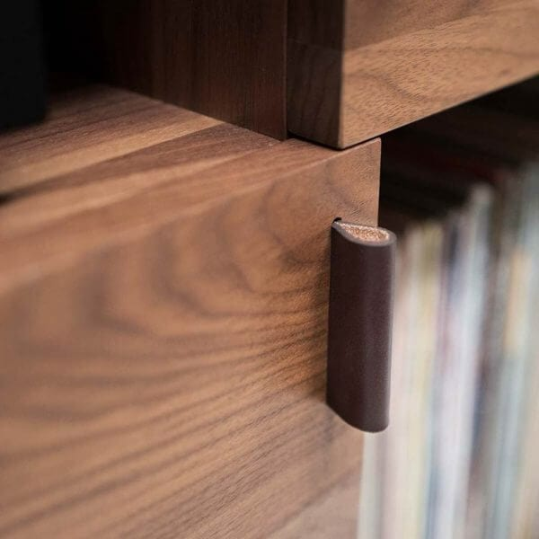 Unison Record Stand Leather Pull